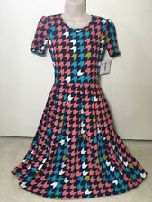 LULAROE Amelia Multicolor Chevron Print Dress Sz XS NEW NWTs