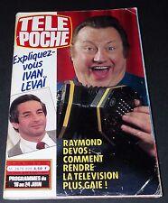 TELE POCHE #905 15/06 1983 RAYMOND DEVOS MOTO SUZUKI 500 ROLLING STONES ROCK