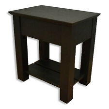Secret Compartment Nightstand- Diversion Safe- RFID Lock- Black Paint on Oak T3