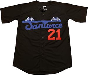 Clemente #21 Santurce Crabbers Puerto Rico Baseball Jersey Men