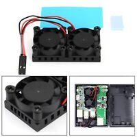 Double Ventilateur & radiateur Kit de refroidissement Pour Raspberry Pi 4B 3B+ A