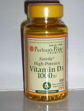 HIGH POTENCY VITAMIN D3 1000IU STRONG HEALTHY BONES IMMUNITY SUPPORT 100 SOFTGEL