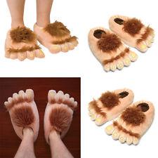 Moda Unisex Monstruo Salvaje Pies Zapatillas de Interior Suave Peludo Caliente