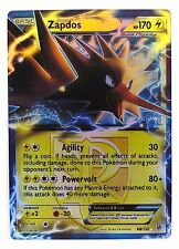 Pokémon Individual Cards EX Zapdos 48/135 with Card Sleeve and Box Case