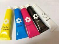 5 Pz Colori a tempera disegni bambini tempere 12 ml colori primari lavabili