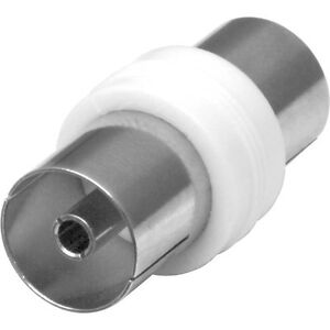 TV AERIAL COAXIAL CABLE COUPLER, FEMALE SOCKET TO FEMALE RF CONNECTOR ADAPTOR