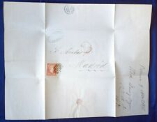 Mayfairstamps Spain 1856 Valencia to Madrid Folded cover wwg17007