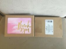 """Hallmark Gold Foil """"Thank You"""" Cards Pink Gradient ~ Pack of (12) NEW"""