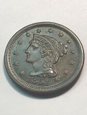 1851 Braided Hair Large Cent Unc+ #10653