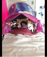 Dream Tent Unicorn Fantasy GirlsTwin PopUp Bed Fort Privacy Nook Cozy Secret NEW