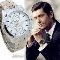 Lujo Hombre Empresa Reloj Acero Inoxidable Maquinaria Cuarzo Deportivo Pulsera