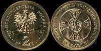 Pologne. 2 Zloty. 2009 (Pièce KM#Y.690 Neuf) Compagnie du 1er Cadre