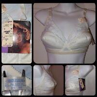 NWT Vintage Underscene Fiberfill Lace Bra Kimball Tag Wirefree Deadstock Sz 36B