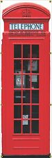 "LONDON ENGLAND BRITISH UK RED PHONE BOOTH MURAL ART BANNER WALL 28"" x 84"" PWB"