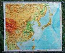 Scheda crocifissi Mappa Muro Cartina a rotelle Asia Asia Orientale Cina schulkarte carta 221x191