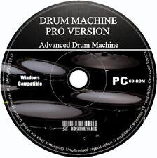 Pro Drum Machine Advanced Studio Beat & Music Creator Sampler Mixer Sequencer CD