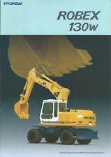 Equipment Brochure - Hyundai - Robex 130W - Wheel Excavator - c1990's (E4930)