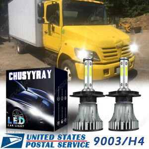 4-Side LED Headlight Light Bulb Conversion Kit for Hino 145 165 185 258 268 338