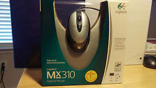 Logitech MX310 Optical Mouse PC/Mac USB/PS2 Ambidextrous L/R (NEW IN SEALED BOX)