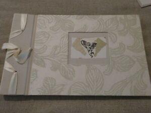 "Vintage 1990s Artisan WEDDING Scrapbook Photo album Collage NEW 13"" x 8"""