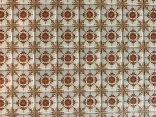 Laminated Tile Sheet Flooring Brown & White, Dolls House Miniature, DIY