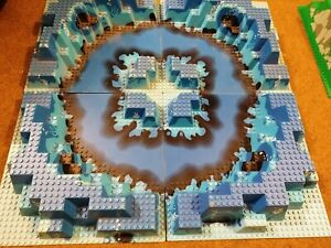 Lego Lotto 4 Piattaforme Basi 3D Blu 32x32