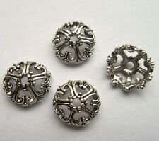 50pcs Tibet silver Flower End Beads Caps 12x5  mm