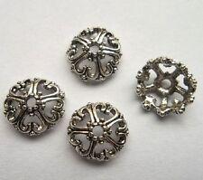 50pcs Tibet silver Flower End Beads Caps 12x5  mm