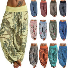 Plus Size Women Yoga Harem Pants Festival Baggy Gypsy Hippie Boho Long Trousers