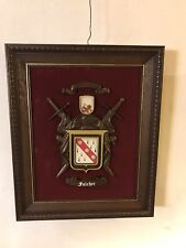 "Fulcher Code Of Arms Replica 14""X17"".not Antique C7pics4size&details. MAKE OFFER"