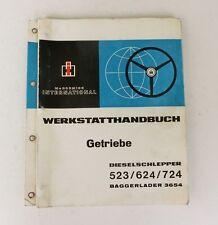 IHC  Werkstatthandbuch Getriebe  523 624 724 Baggerlader 3654 Original 1970