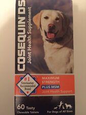 Cosequin DS Dog Maximum Strength Plus MSM Joint Supplement 60ct exp 04/2019