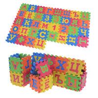 60Pcs EVA Foam Russian Alphabet Letters Numbers Floor Baby Mat Learn   I fr