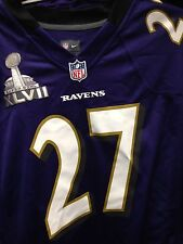 RAY RICE NFL SUPER BOWL 47 GAME JERSEY PURPLE BALTIMORE RAVENS  LARGE andX LARGE