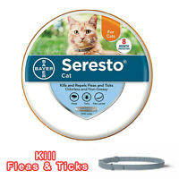 Bayer Seresto Flea and Tick Collar For Cat 8 Month Protection - Fast Delivery