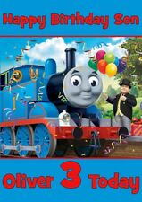 Personalised birthday card Thomas the Tank engine  any name/age/relation