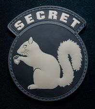 BLACK OPS ISAF USA ARMY SECRET SQUIRREL SWAT PVC RUBBER HOOK PATCH