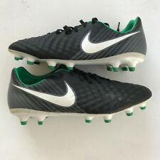 Nike Magista Opus Ii Fg Soccer Cleats Black Green White Gray Sz ( 843813-002 )