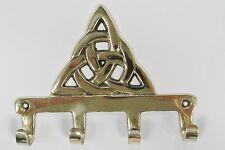 Irish Brass Trinity Knot Keyrack Wall Plaque Kildare Ireland