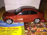 1:18 DEALER KYOSHO BMW 1 SERIES COUPE  RED METALLIC NEW FREE SHIPPING WORLDWIDE
