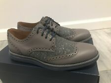 Cole Haan Lunargrand Wingtip Stormcloud Wool Formal Dress Shoes C20664 7.5M