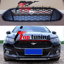 Front Grille Grill Horse Pony Emblem Honeycomb Mesh for Ford Fusion 2013-2015