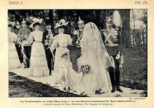 Adels-Vermählung auf Schloß Varchentin bei Waren Mecklenburg c.1905