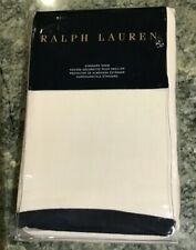 Ralph Lauren SCREENING ROOM BRANFORD Blue & Cream Linen STANDARD Sham NWT $145