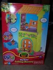 Dora The Explorer Big Sister Talking Nursery In Box Goes w Talking DollHouse HTF
