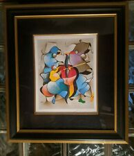 "David Schluss ""SYMPHONY TRIO"" Signed & Numbered 17/70 Painting Serigraph w/COA!"