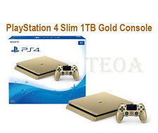 PS4 GOLD Sony Slim LIMITED Edition Console Brand New - 1 TB Playstation 4