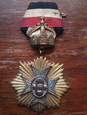 Original Rare German WW1  Medal with Ribbon, cross order badge
