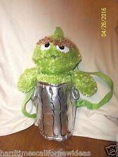 Sesame Street Oscar the Grouch Plush Back Pack Animations 13""