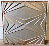"Antique 24"" x 24"" CEILING TIN Tile VINTAGE Mid-Century Modern Design ORNATE"